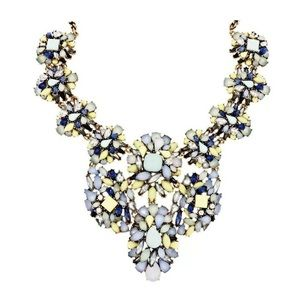 JOAN RIVERS Opalescent Statement Bib Necklace